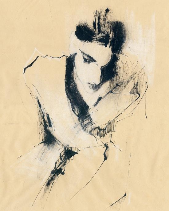 """Saatchi Online Artist: Monique van den Hout; Pen and Ink, Drawing """"without"""""""