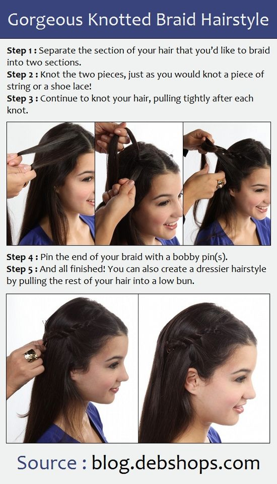 Gorgeous Knotted Braid Hairstyle