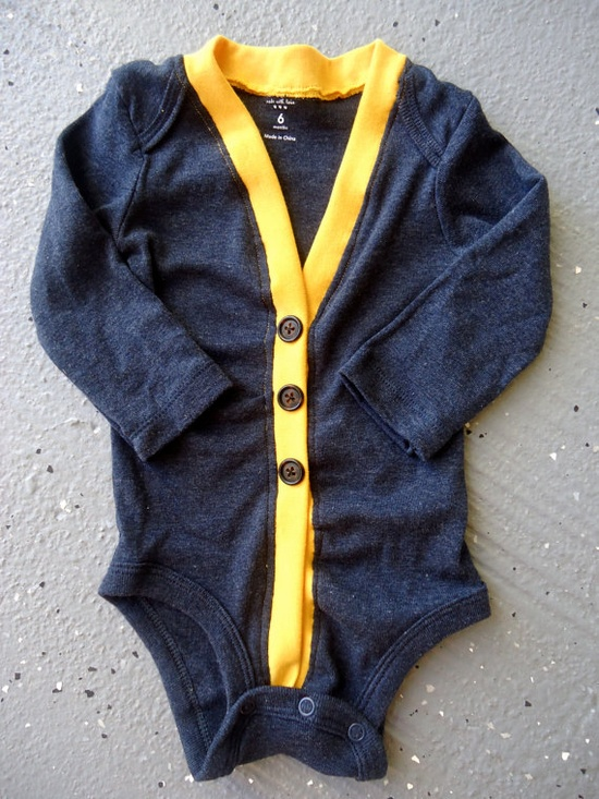 Baby Cardigan Onesie - Preppy Baby Boy Sweater