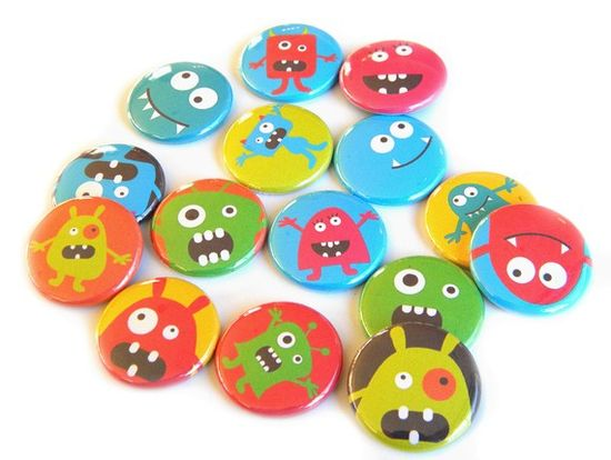 monster buttons
