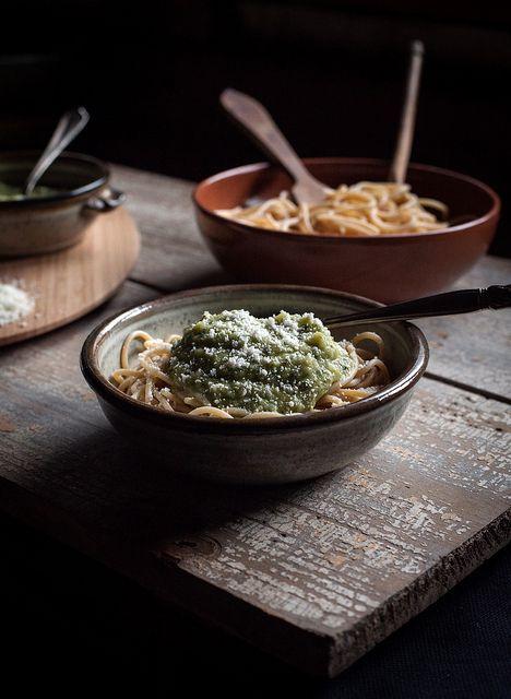 Pasta with Zucchini & Herb Sauce