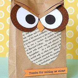 Owl party favour
