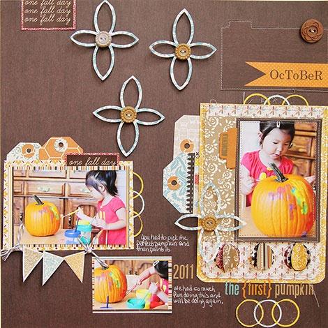 the {first} pumpkin *Lily Bee* - Scrapbook.com