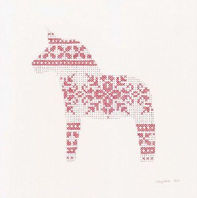 ..cross stitch patterned