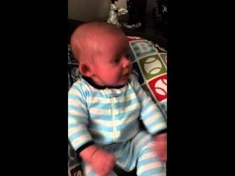 Funny Baby Video - Scared By Dad Blowing