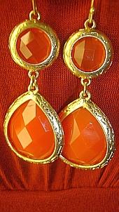 Orange jewelry...yes please!