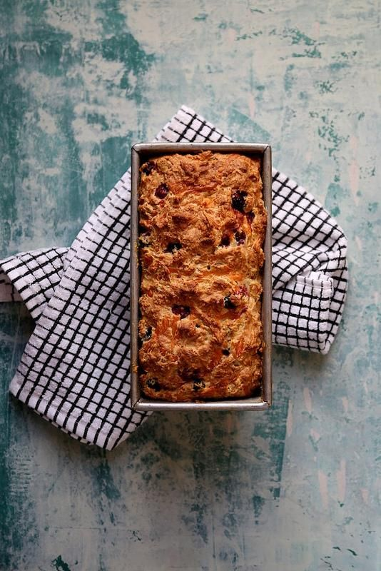 Savory Cheddar and Cranberry Bread