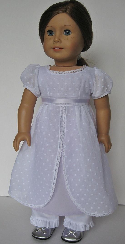 Simple pretty Jane Austen doll dress