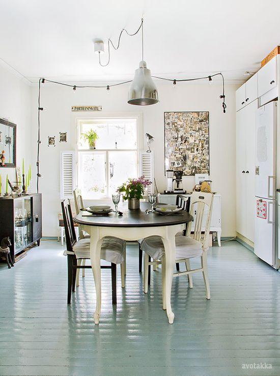 love the blue floor