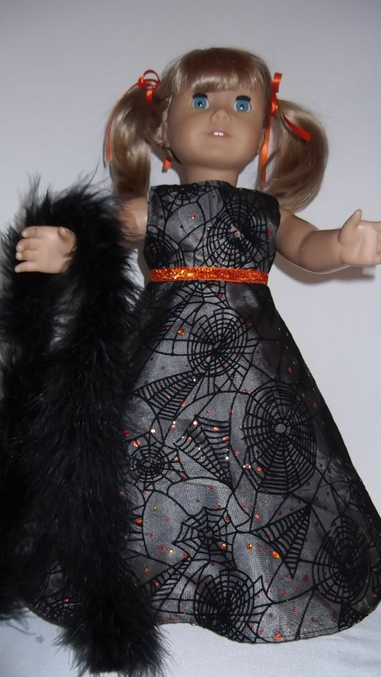 American Girl doll clothes  Halloween Gown and by susiestitchit, $16.00