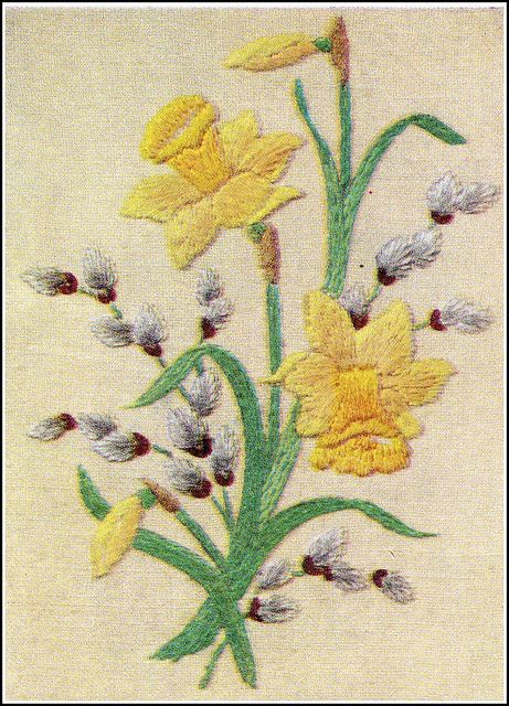 Vintage embroidery, via Flickr.