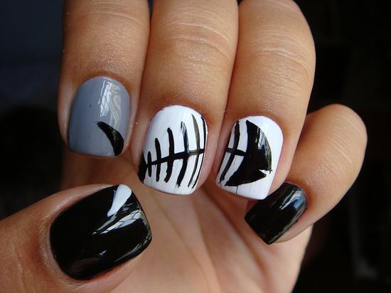 fish nail art... reminds me of Angela