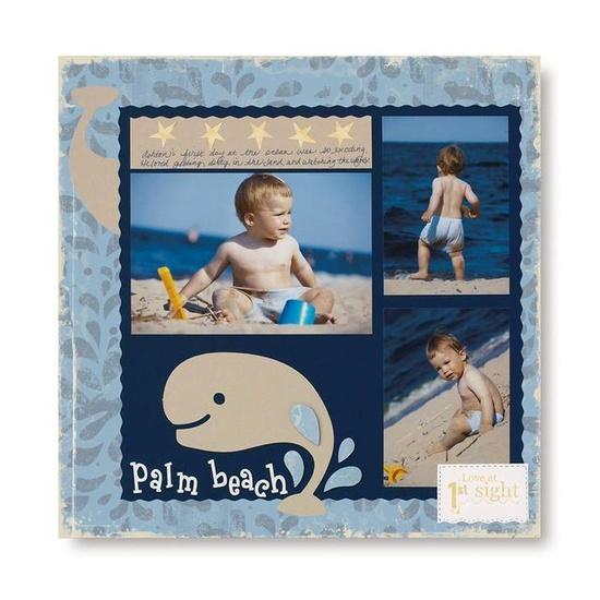 baby boy scrapbook layout