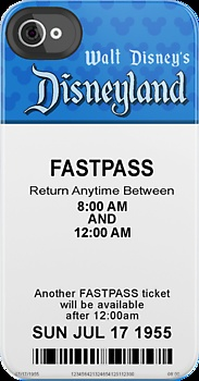 disneyland fastpass iphone case - I want to get an Iphone JUST so that I can have this case to put it in!