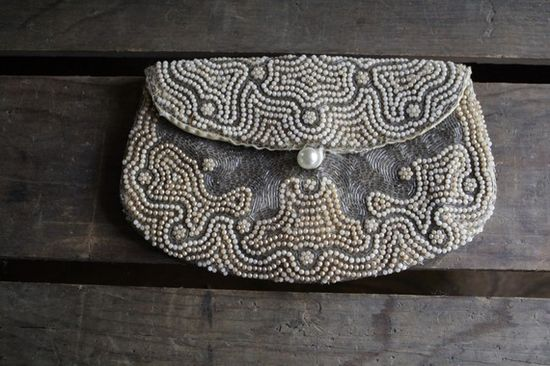 pretty vintage beaded purse