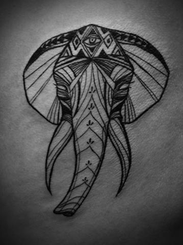 elephant tattoo ?