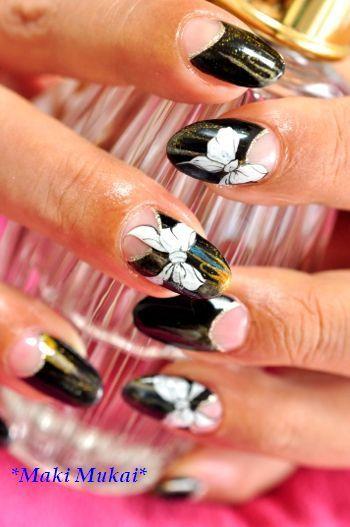 ribbon art nail