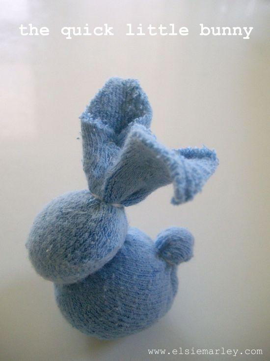 Baby sock bunny :)