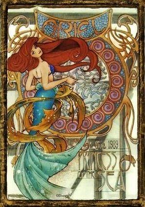 Little Mermaid's Ariel cartoon illustration via www.Facebook.com/...