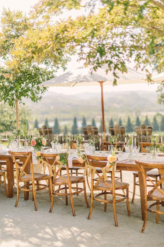 outdoor wedding reception www.weddingchicks...
