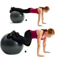 Stability Ball Pelvic Tilt Crunch