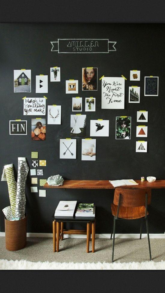 chalkboard wall office space. tumblr