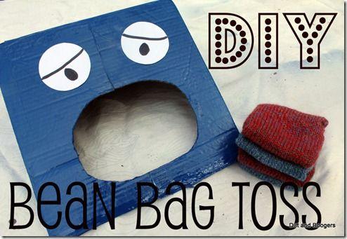 Homemade Toys: Bean Bag Toss