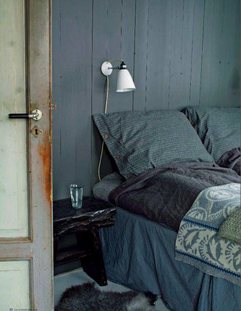 bleu vert chambre