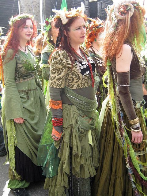 Tribal Bellydancers at the Jack in the Green Fest, Hastings. Photo taken by Ally Shaw