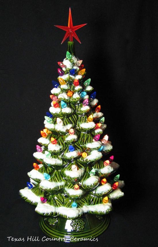 Ceramic Christmas trees!