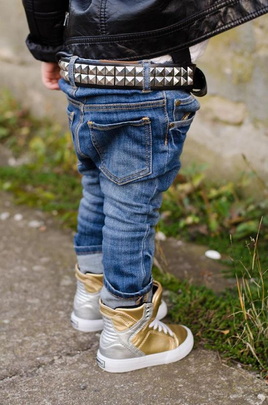 Stylish kids, little rock 'n roll kids outfit, jeans for kids