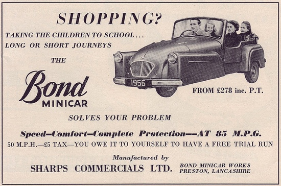 Bond Minicar - The Light Car - August 1956 by kitchener.lord, via Flickr