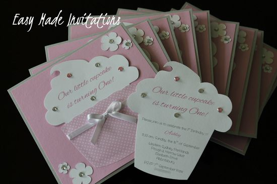 Cupcake Handmade Invitations