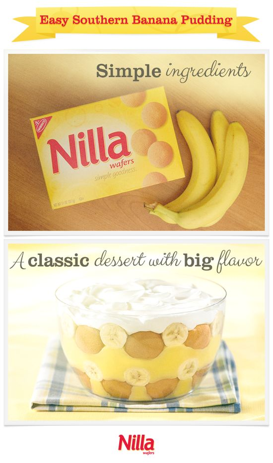 Easy Southern Banana Pudding by nillawafers: Classic goodness! #Pudding #Banana #Nillawafers