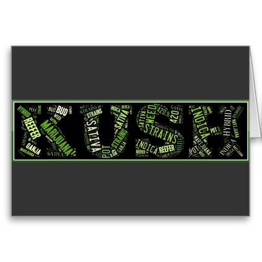 KUSH word art greeting card