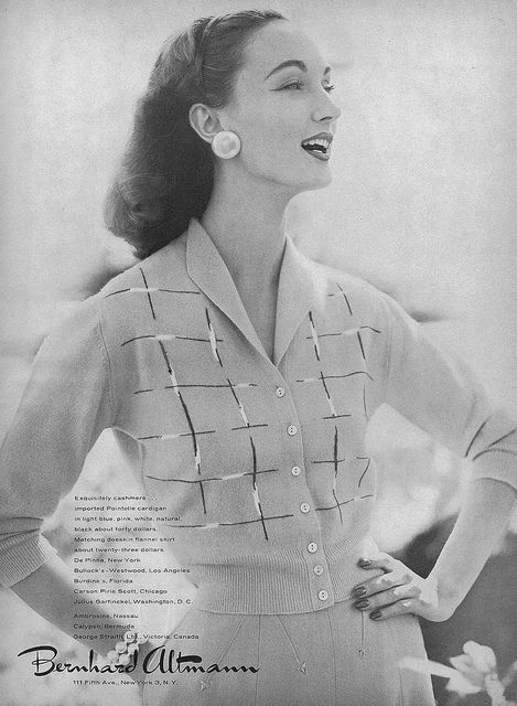 Charming sweater, skirt, hair - whole look! #vintage #fashion #1950s #ad
