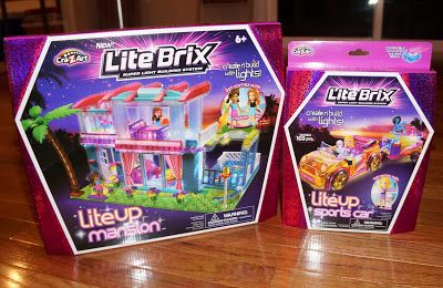 Lite Brix Mansion and Sports Car @LiteBrix