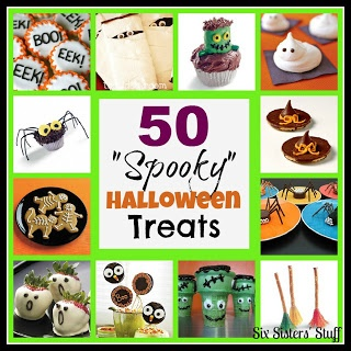 """50 """"Spooky"""" Halloween Treats! Perfect for any Halloween Party by Sixsistersstuff.com #halloween #party #treats"""