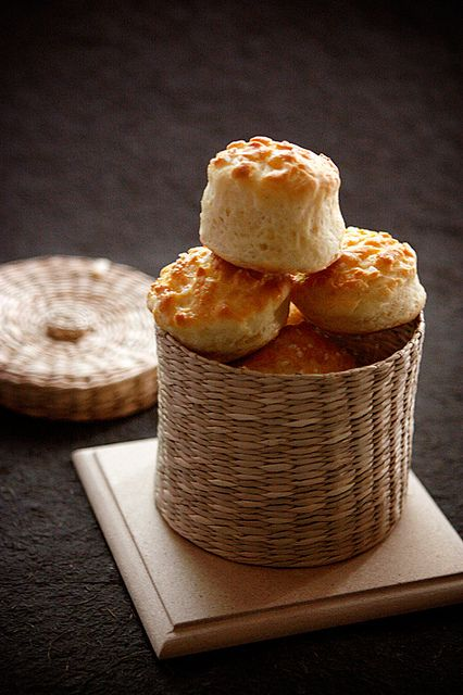 "Hungarian cottage cheese (brindza) scones - ""Pogácsa"" by csokiparany, via Flickr"