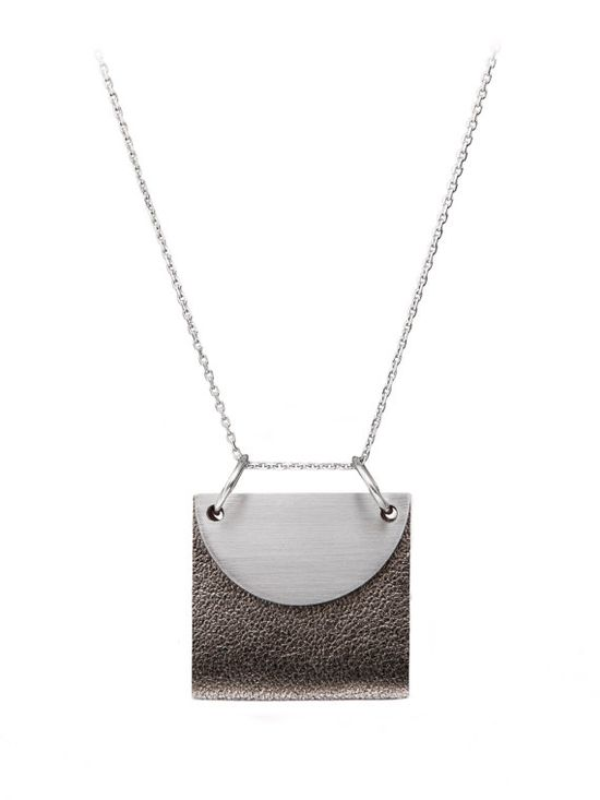 Leather + Metal Necklace