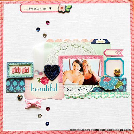 #papercraft #Scrapbook #layout  Girly Girl