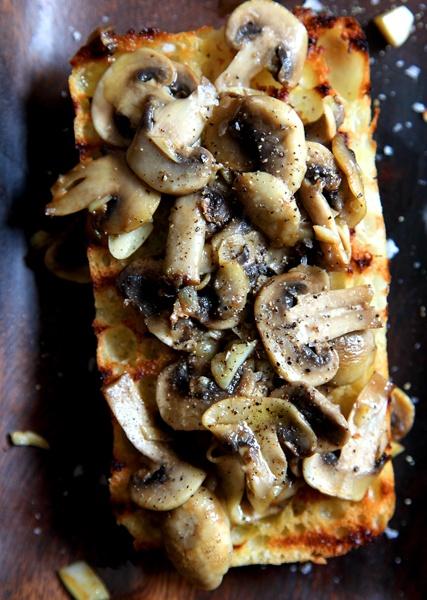 Simple Garlic Mushroom Bruschetta