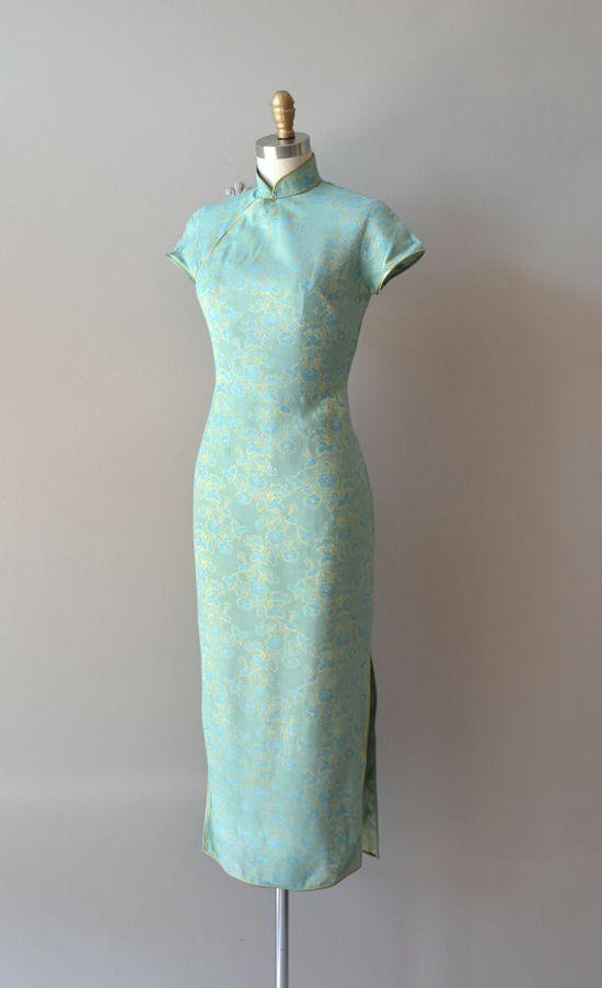 1950s cheongsam dress