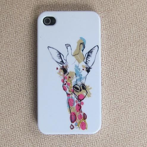 iPhone 4s Case/iPhone 4,4s Cover/Hard Plastic Case/Giraffe iphone case/Giraffe iphone cover/gift for christmas. $9.99, via Etsy.