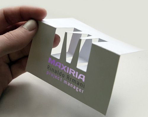 22.folded business cards