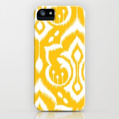 Ikat Damask iPhone Case by Patty Sloniger - $35.00