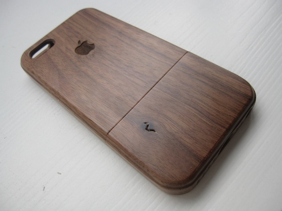 Iphone 5 wooden case - walnut / cherry or bamboo - Apple logo