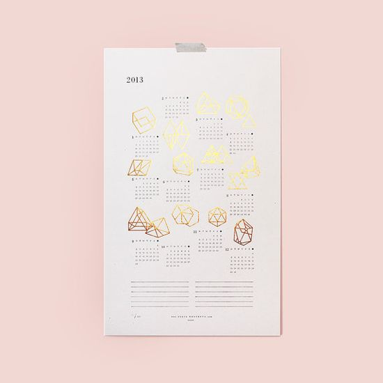 2013 Prisms Calendar by juliakostreva on Etsy, $33.00