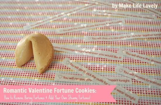 Romantic Valentine Fortune Cookies