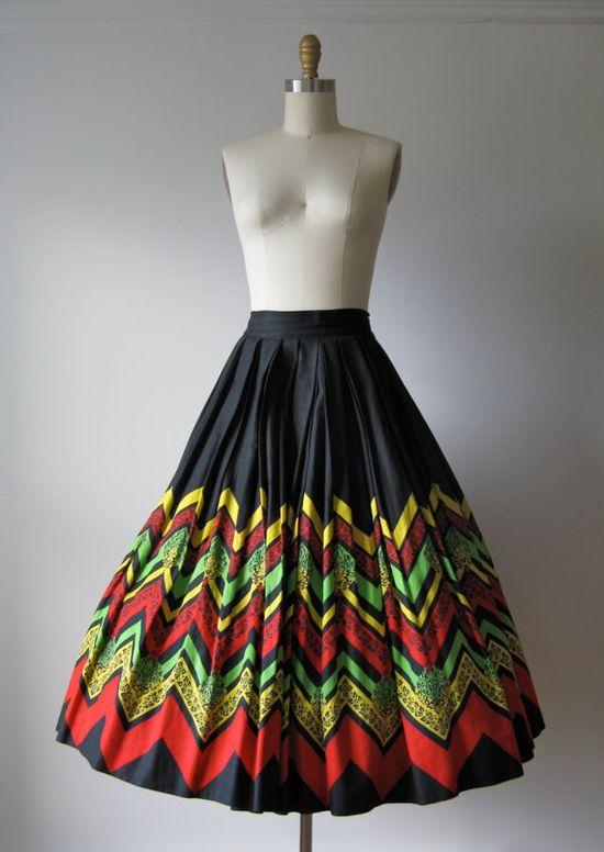 1950s skirt #vintage
